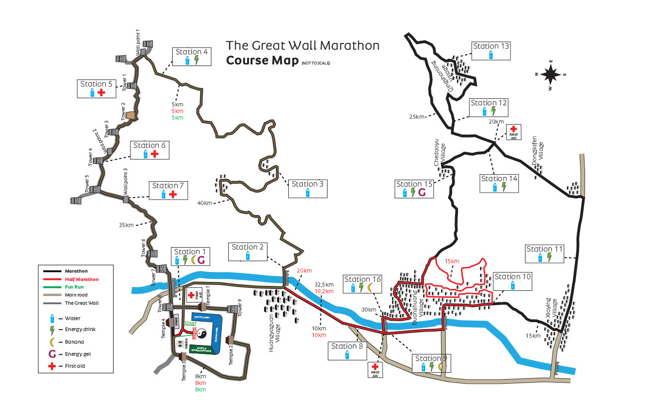 Great Wall Of China Map View.Race Info Great Wall Marathon